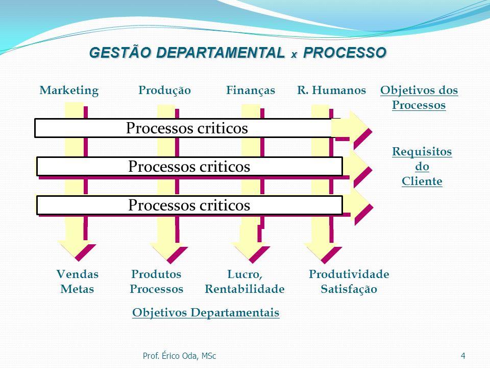 GESTÃO DEPARTAMENTAL x PROCESSO