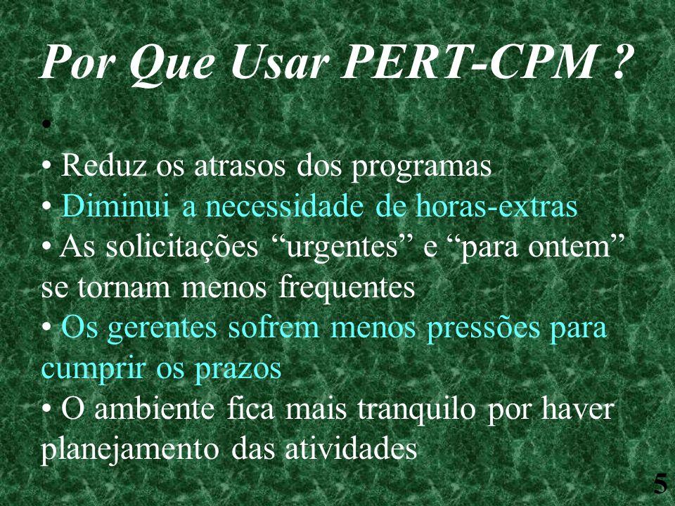 Por Que Usar PERT-CPM Reduz os atrasos dos programas