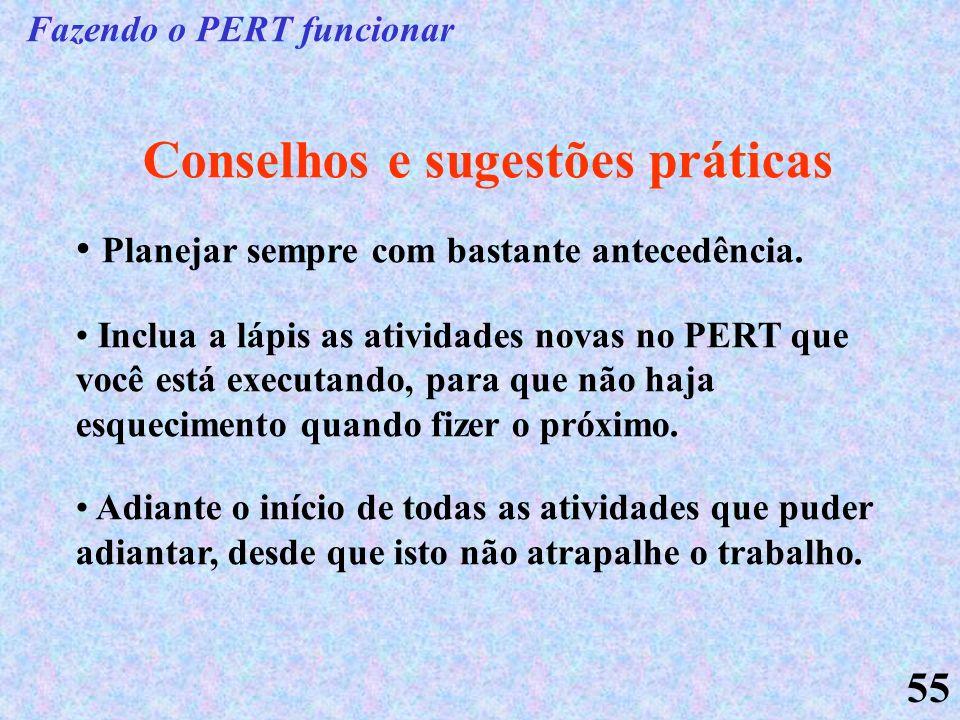 Fazendo o PERT funcionar Conselhos e sugestões práticas
