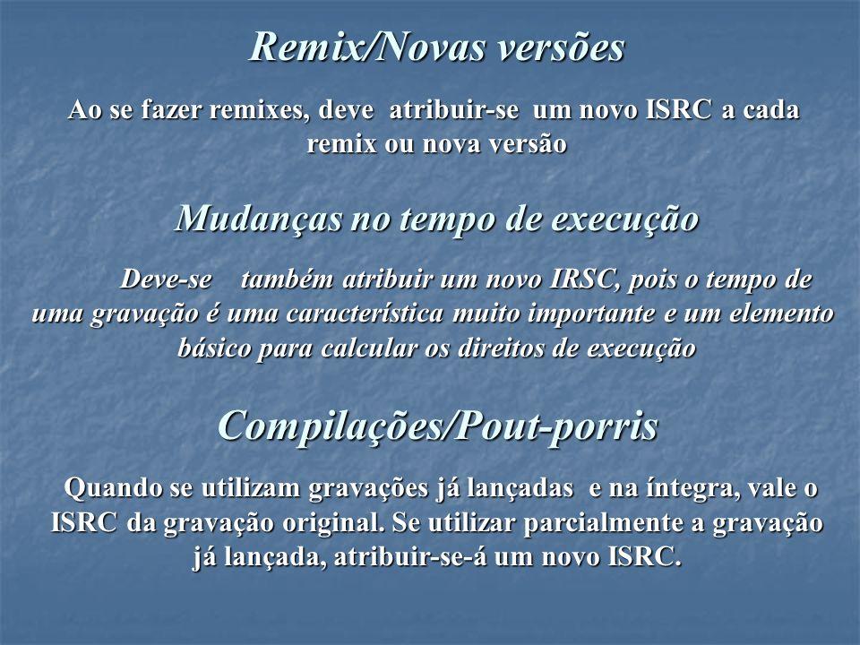 Remix/Novas versões Compilações/Pout-porris