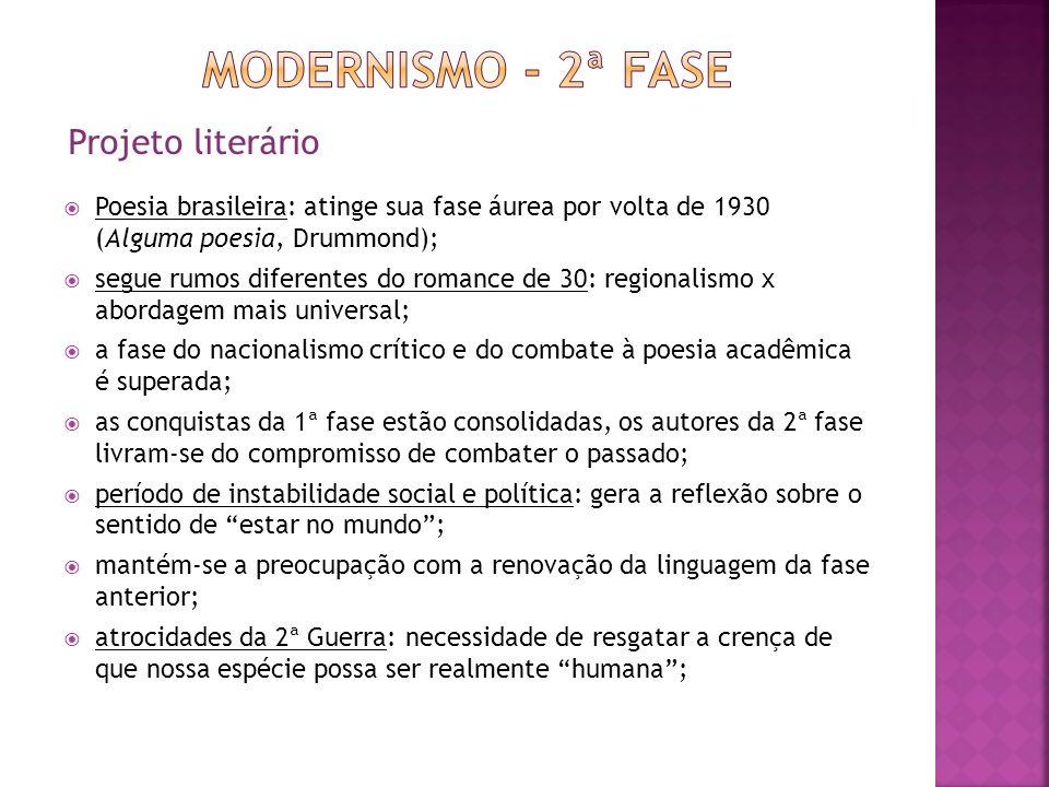 Modernismo - 2ª fase Projeto literário