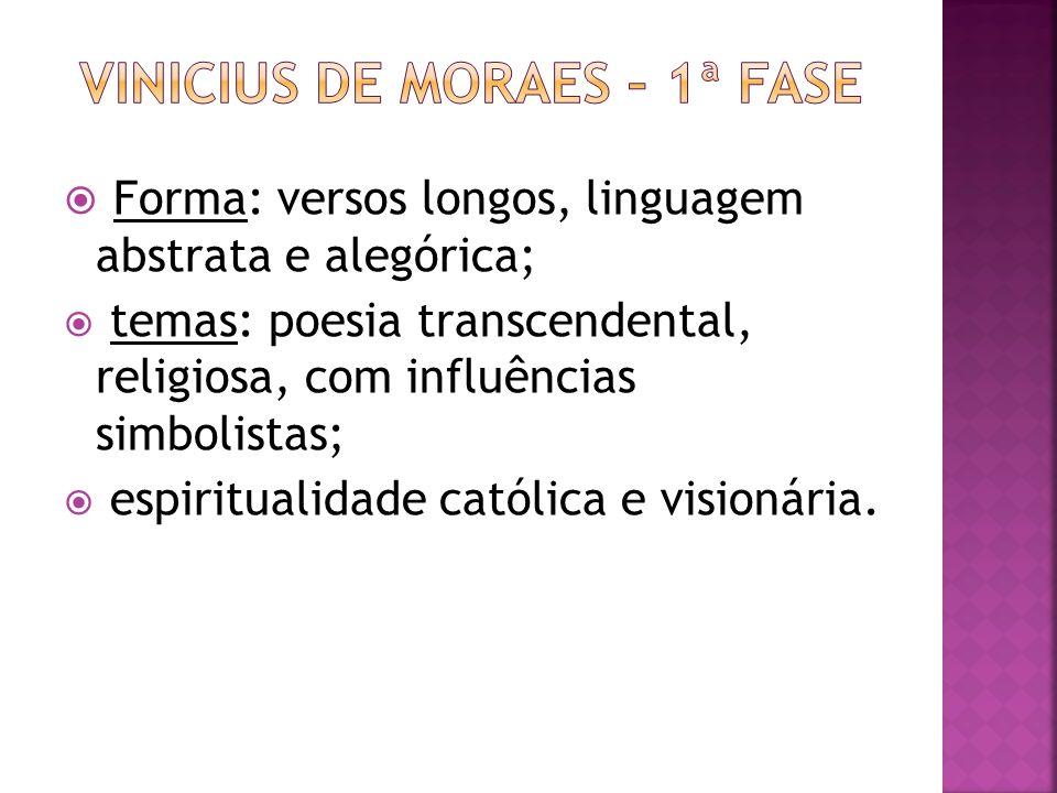 Vinicius de moraes – 1ª fase