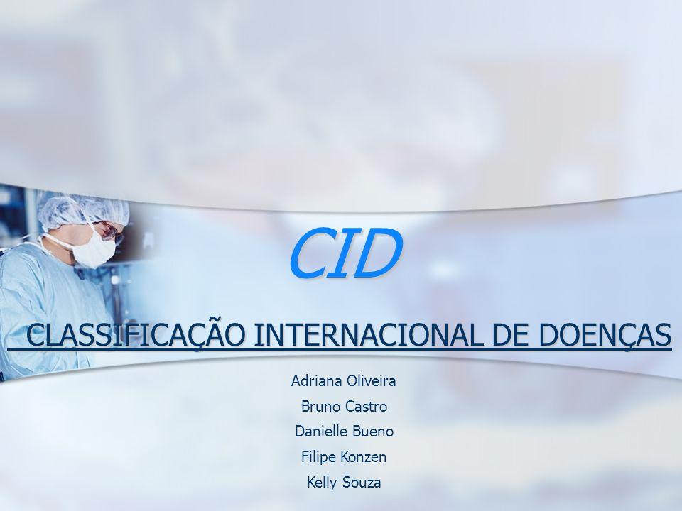 CLASSIFICAÇÃO INTERNACIONAL DE DOENÇAS