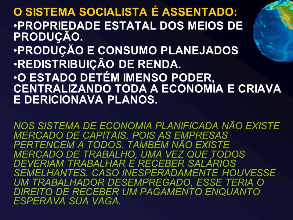 O SISTEMA SOCIALISTA É ASSENTADO: