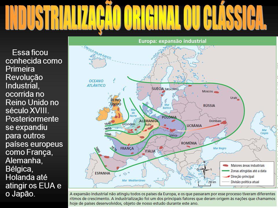 INDUSTRIALIZAÇÃO ORIGINAL OU CLÁSSICA.