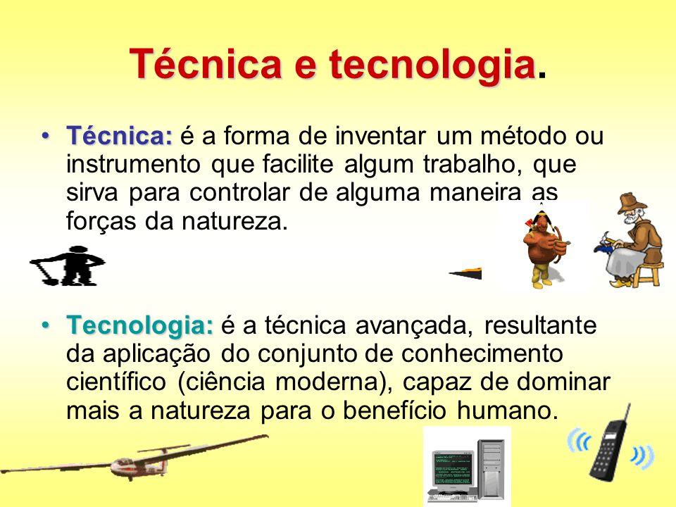 Técnica e tecnologia.