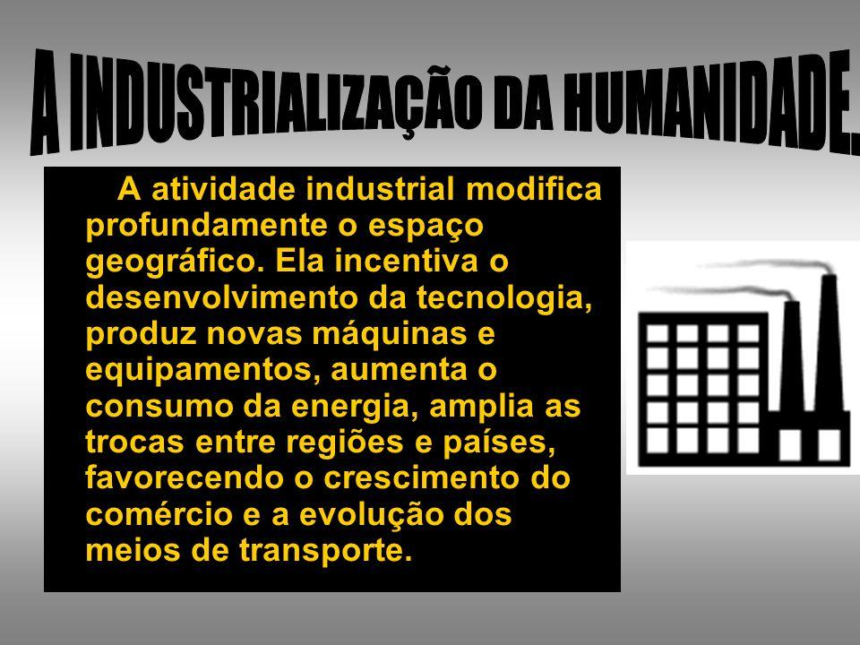 A INDUSTRIALIZAÇÃO DA HUMANIDADE.