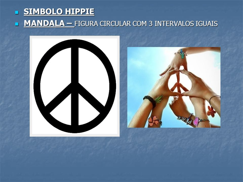 SIMBOLO HIPPIE MANDALA – FIGURA CIRCULAR COM 3 INTERVALOS IGUAIS