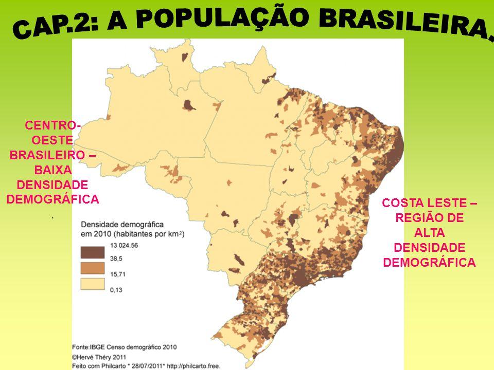 COSTA LESTE – REGIÃO DE ALTA DENSIDADE DEMOGRÁFICA