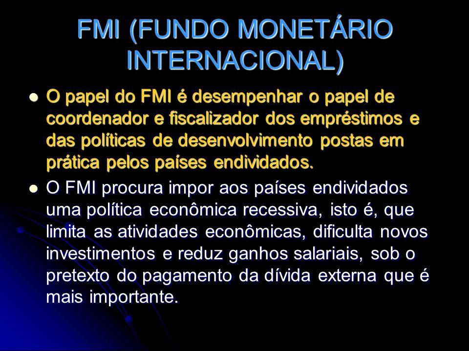 FMI (FUNDO MONETÁRIO INTERNACIONAL)