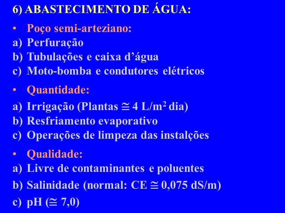 6) ABASTECIMENTO DE ÁGUA: