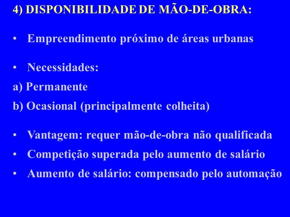 4) DISPONIBILIDADE DE MÃO-DE-OBRA: