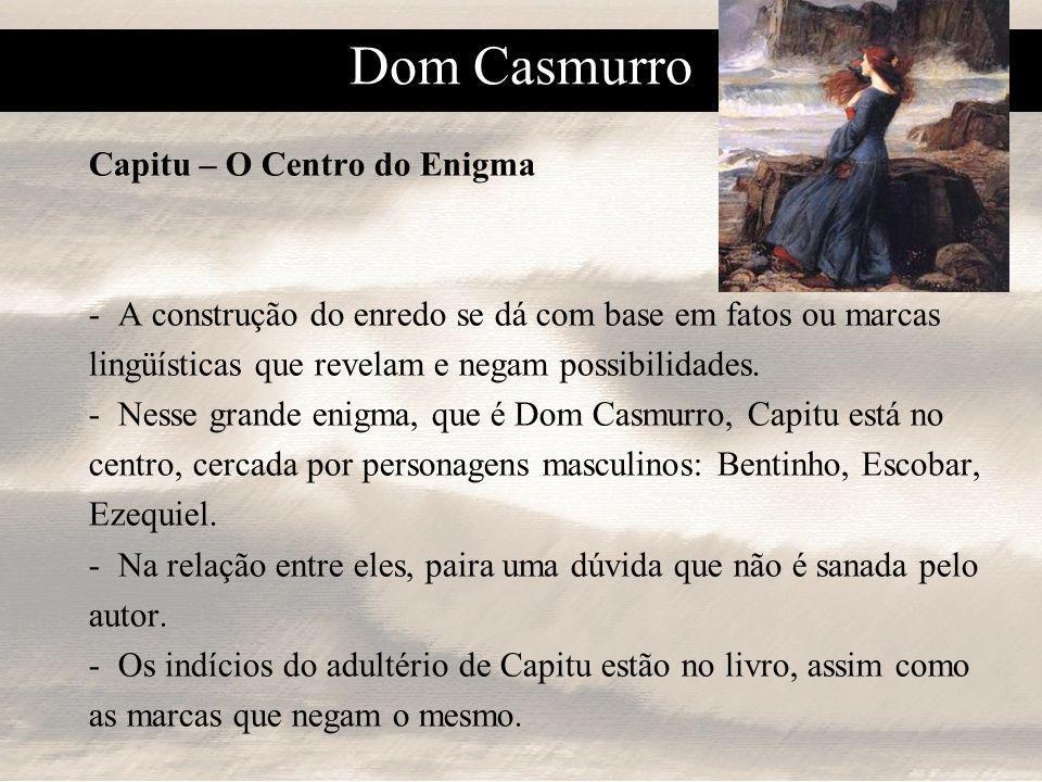 Dom Casmurro Capitu – O Centro do Enigma