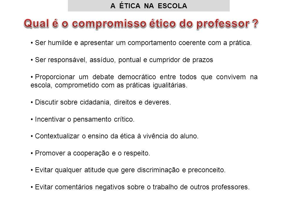 Qual é o compromisso ético do professor