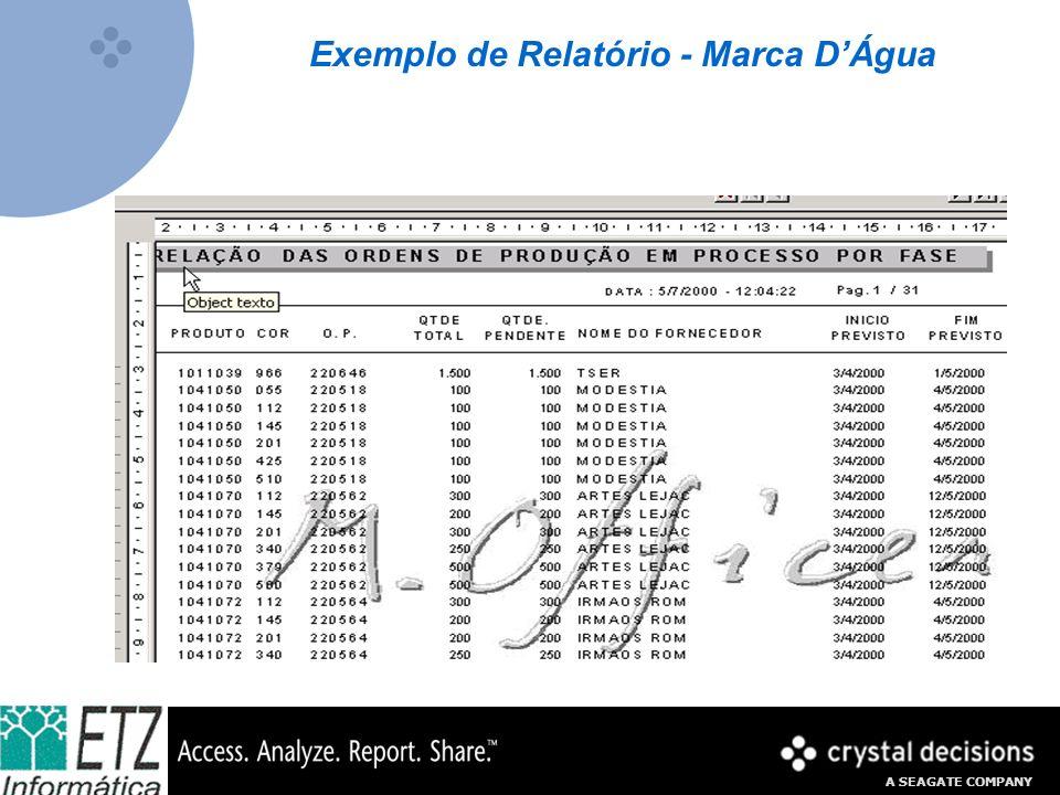 Exemplo de Relatório - Marca D'Água