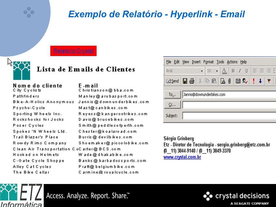 Exemplo de Relatório - Hyperlink - Email