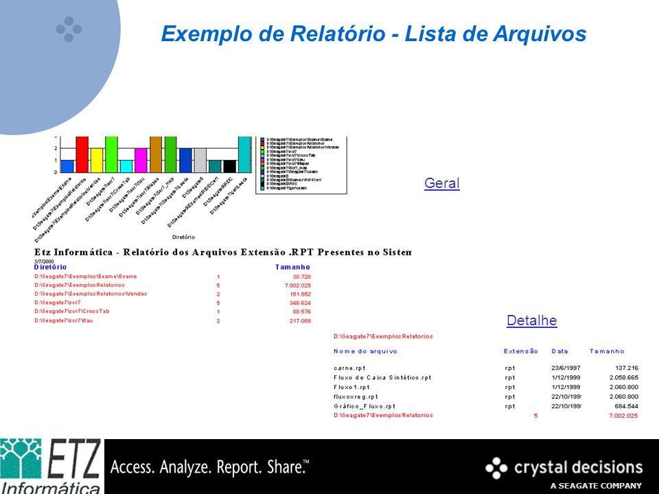 Exemplo de Relatório - Lista de Arquivos