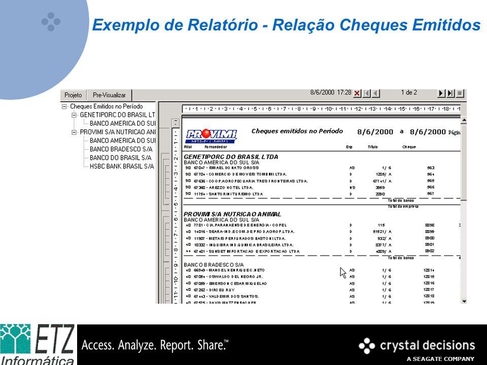 Exemplo de Relatório - Relação Cheques Emitidos