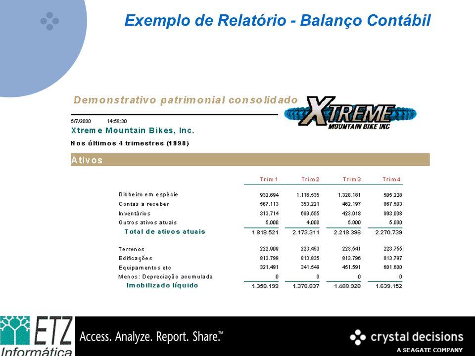Exemplo de Relatório - Balanço Contábil