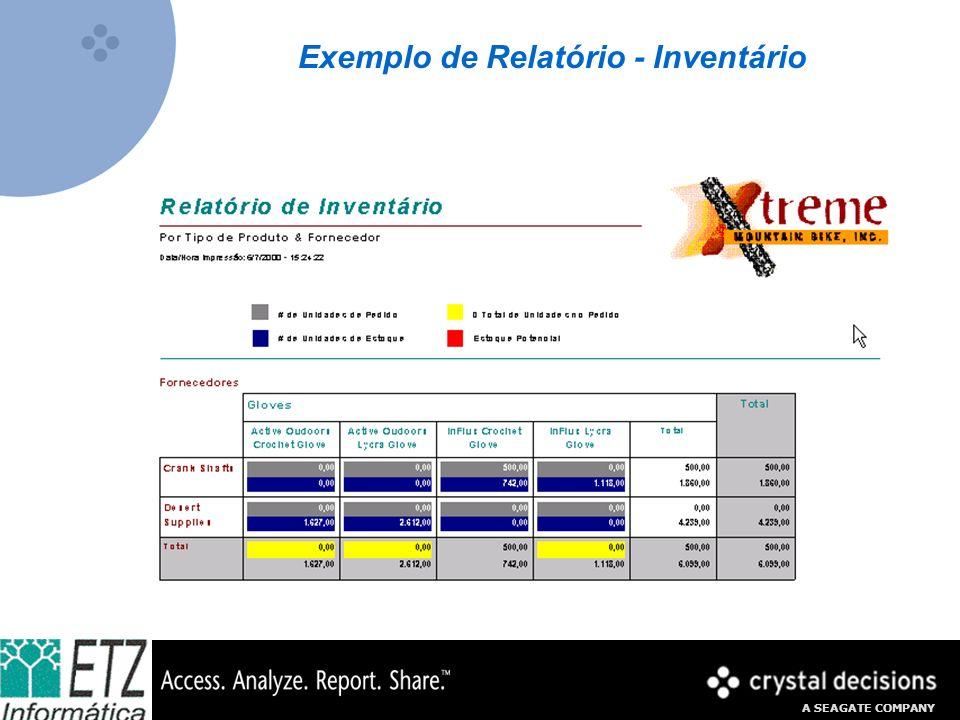 Exemplo de Relatório - Inventário