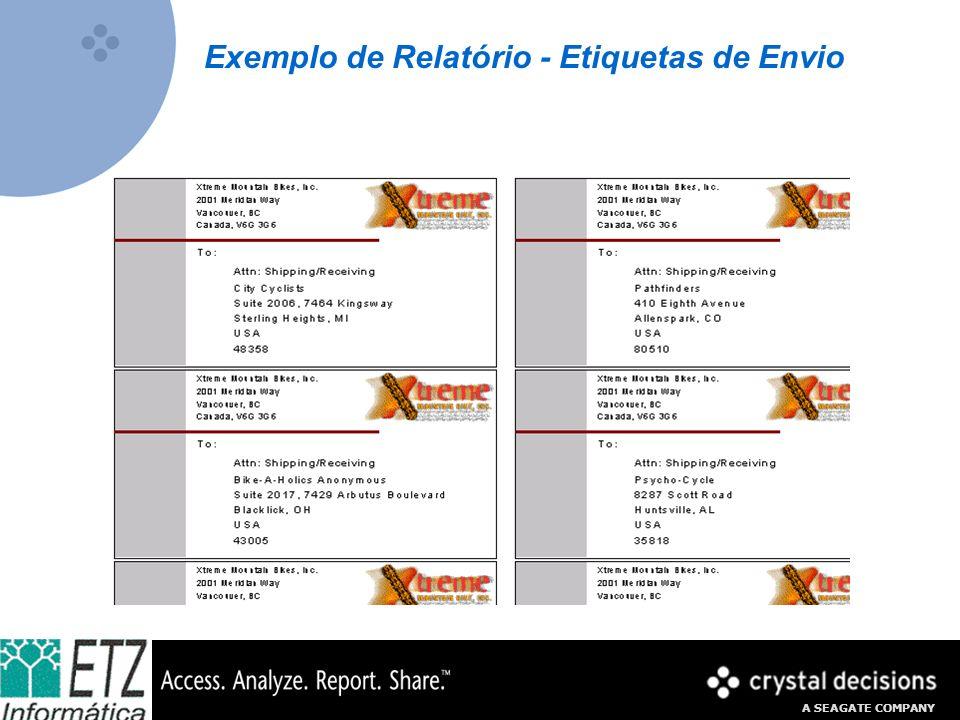 Exemplo de Relatório - Etiquetas de Envio