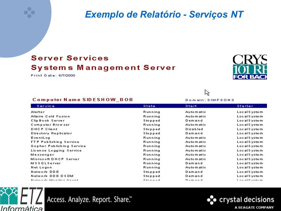 Exemplo de Relatório - Serviços NT