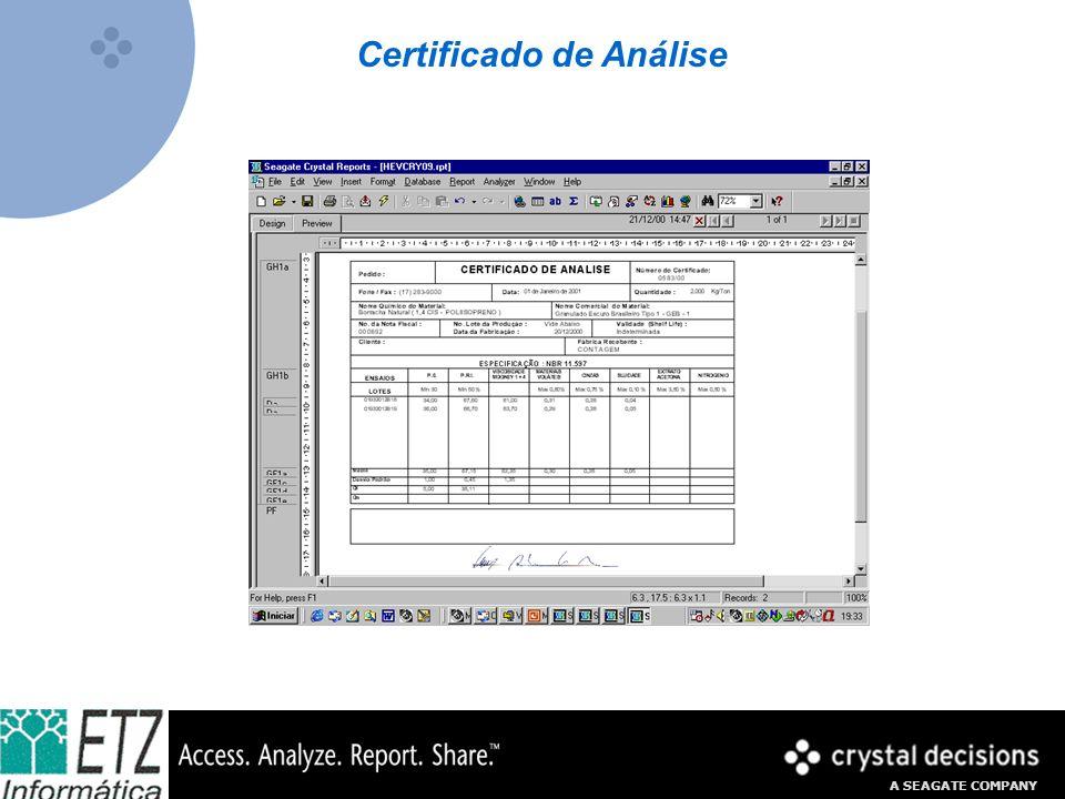Certificado de Análise