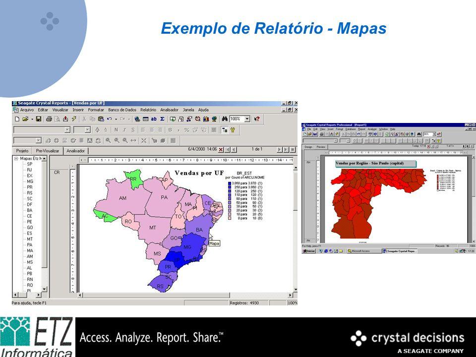 Exemplo de Relatório - Mapas