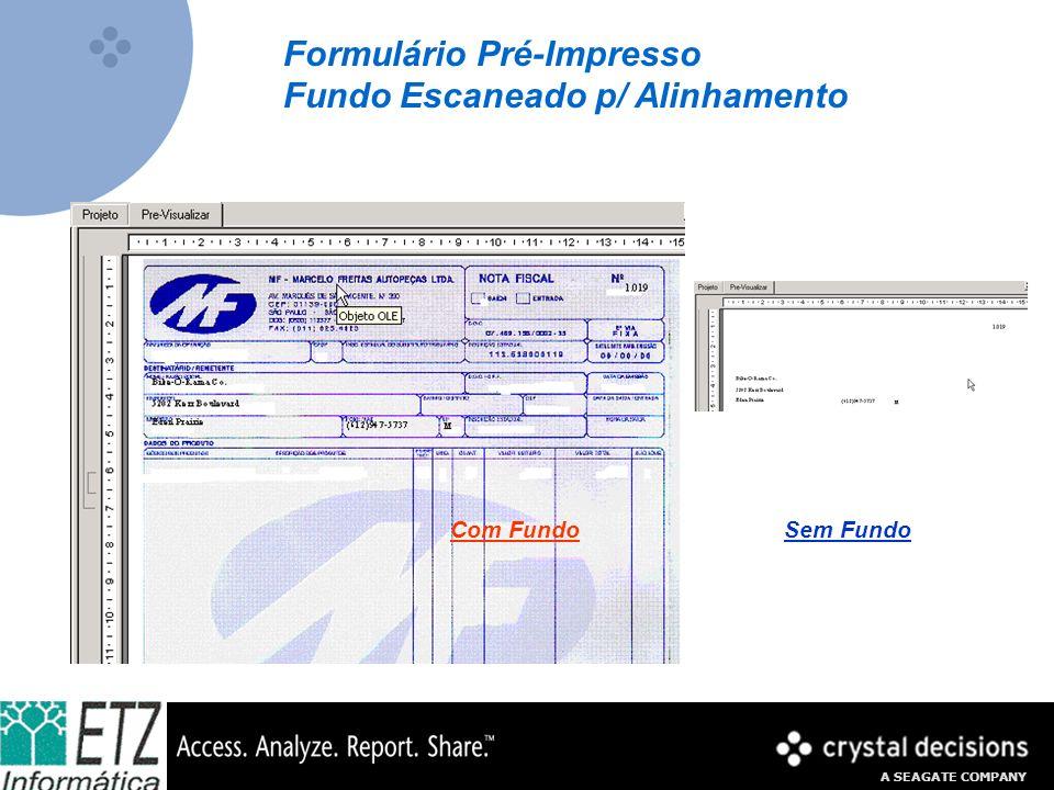 Formulário Pré-Impresso Fundo Escaneado p/ Alinhamento