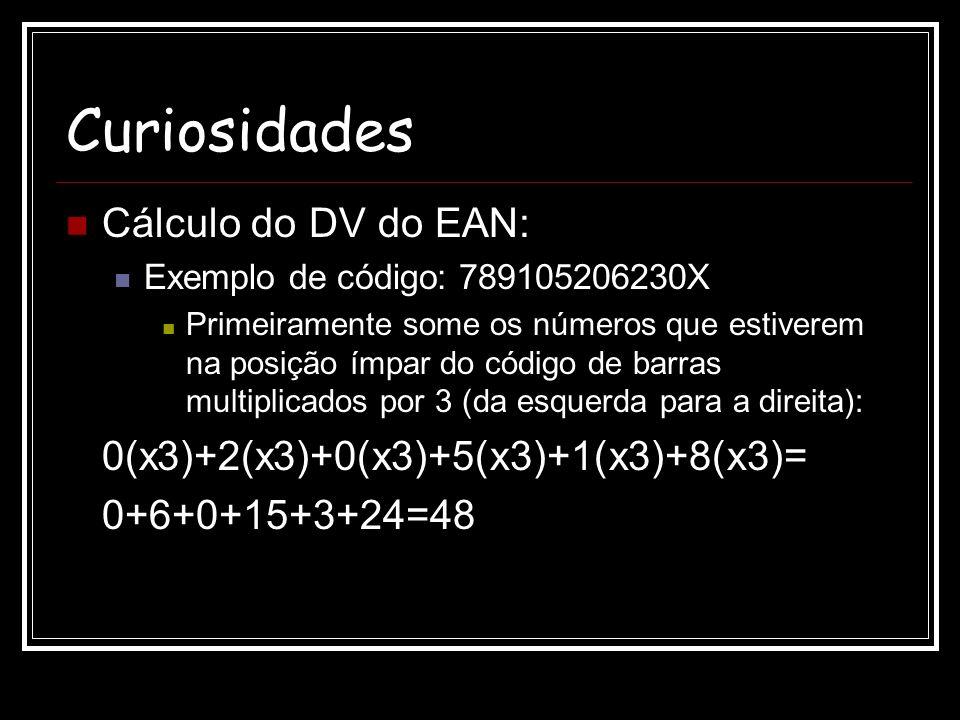 Curiosidades Cálculo do DV do EAN: