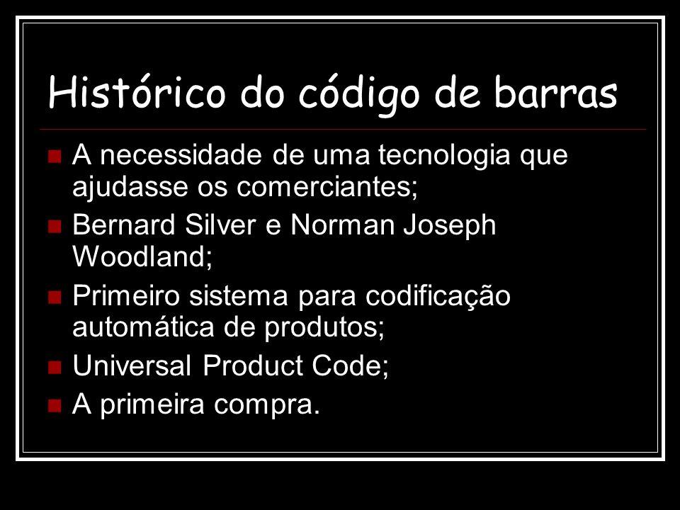 Histórico do código de barras