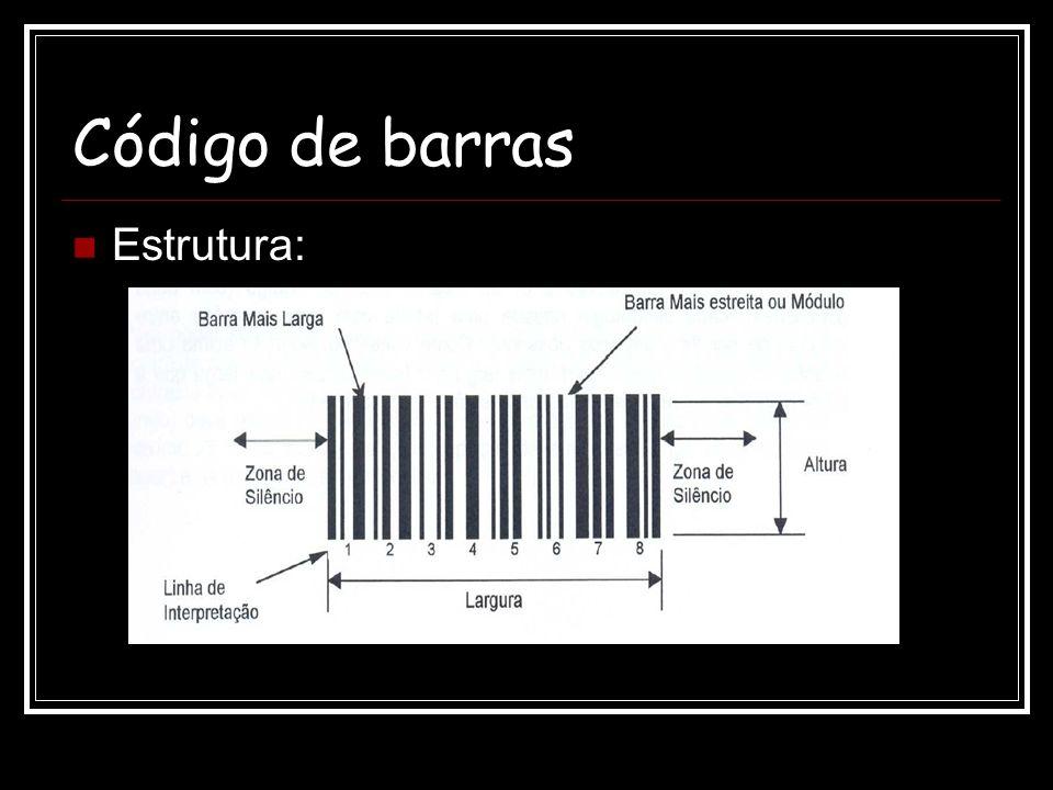 Código de barras Estrutura: