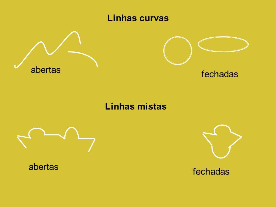 Linhas curvas abertas fechadas Linhas mistas abertas fechadas