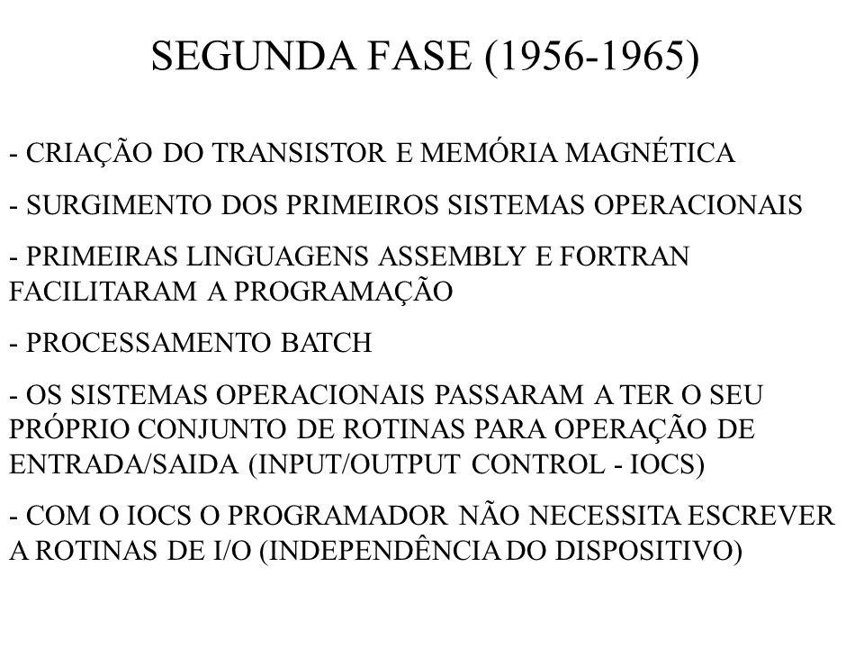 SEGUNDA FASE (1956-1965) - CRIAÇÃO DO TRANSISTOR E MEMÓRIA MAGNÉTICA