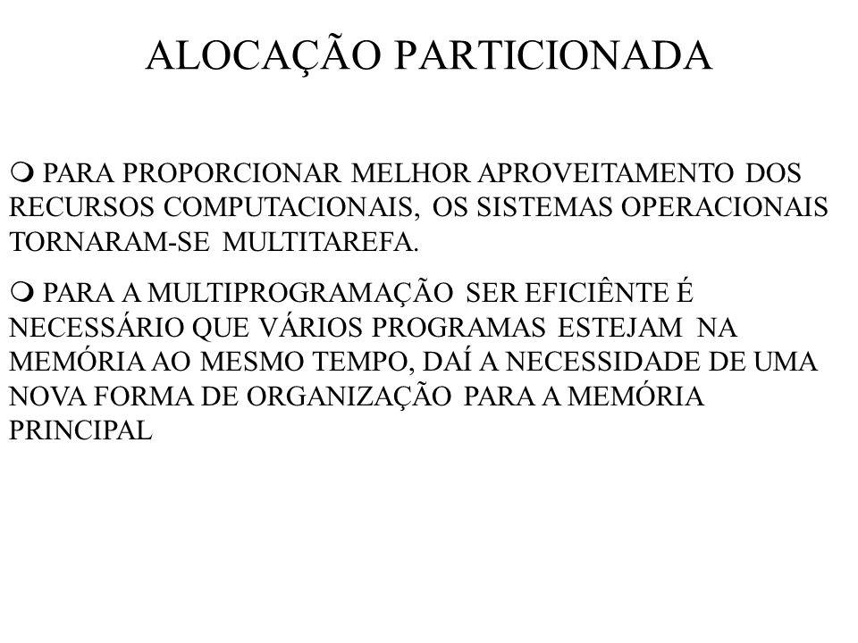 ALOCAÇÃO PARTICIONADA