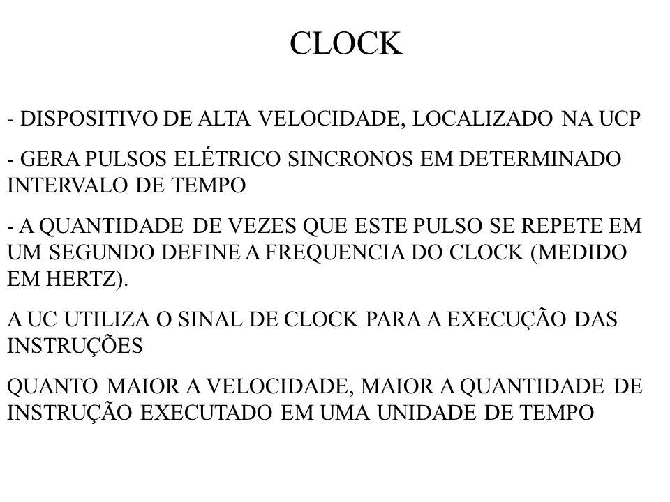 CLOCK - DISPOSITIVO DE ALTA VELOCIDADE, LOCALIZADO NA UCP