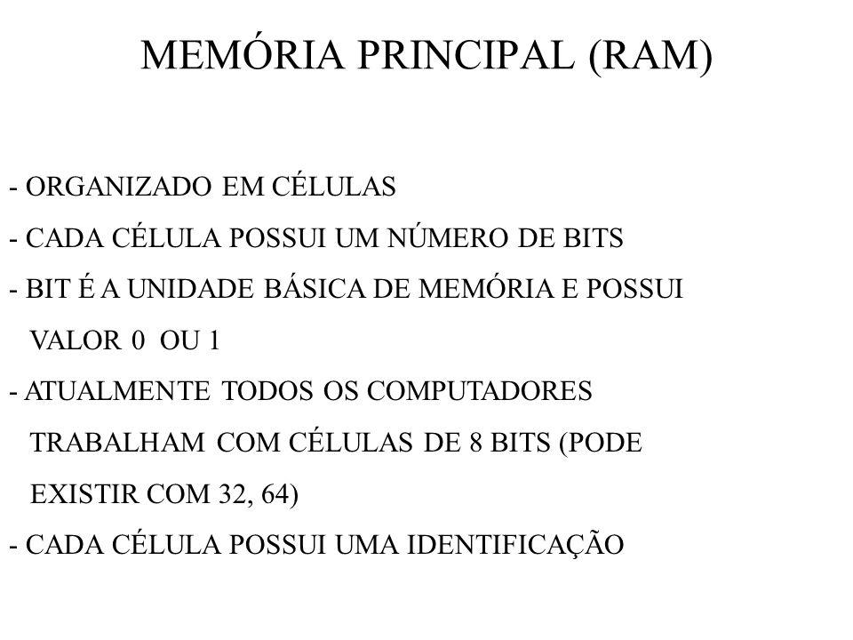 MEMÓRIA PRINCIPAL (RAM)