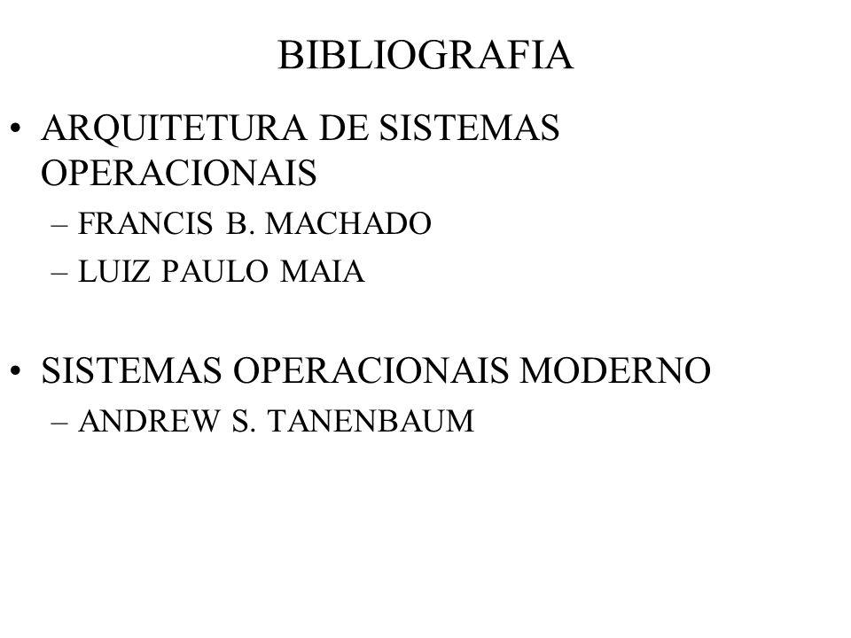 BIBLIOGRAFIA ARQUITETURA DE SISTEMAS OPERACIONAIS
