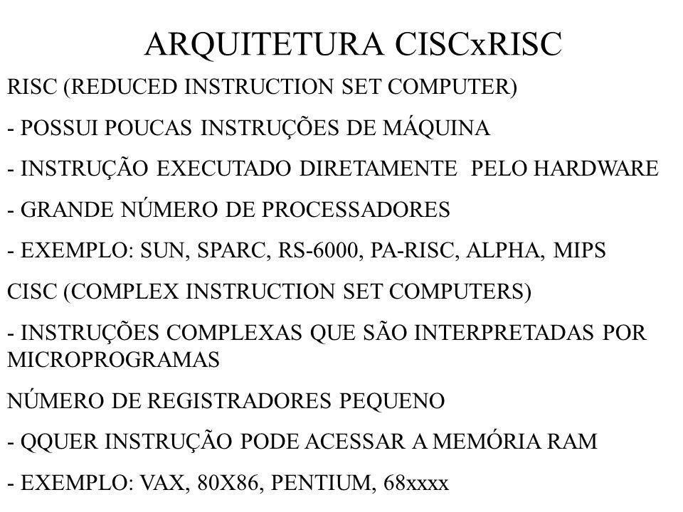 ARQUITETURA CISCxRISC