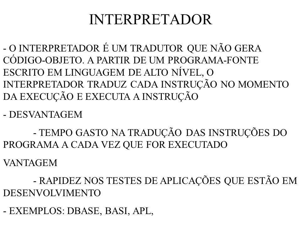 INTERPRETADOR