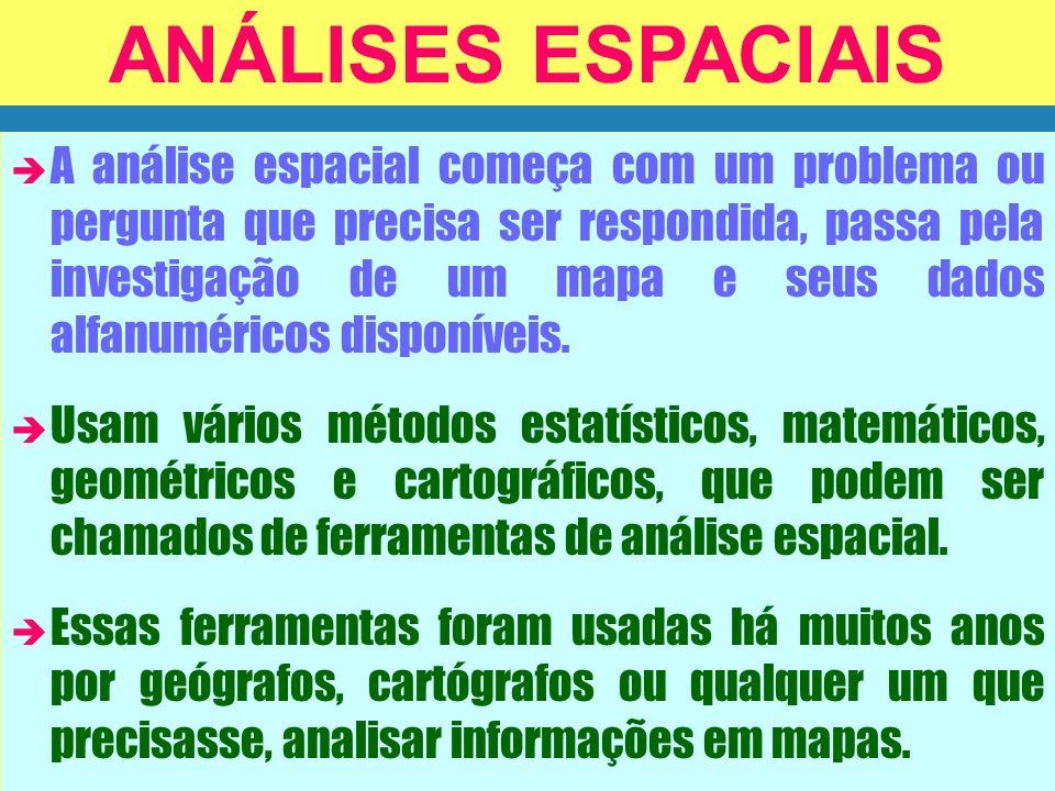 ANÁLISES ESPACIAIS