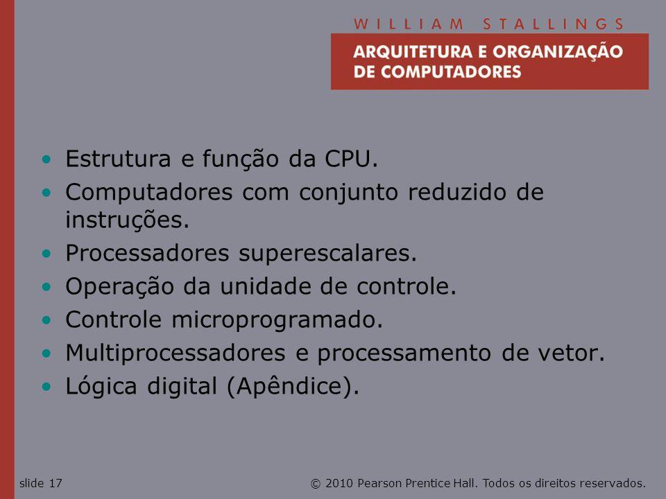 Estrutura e função da CPU.
