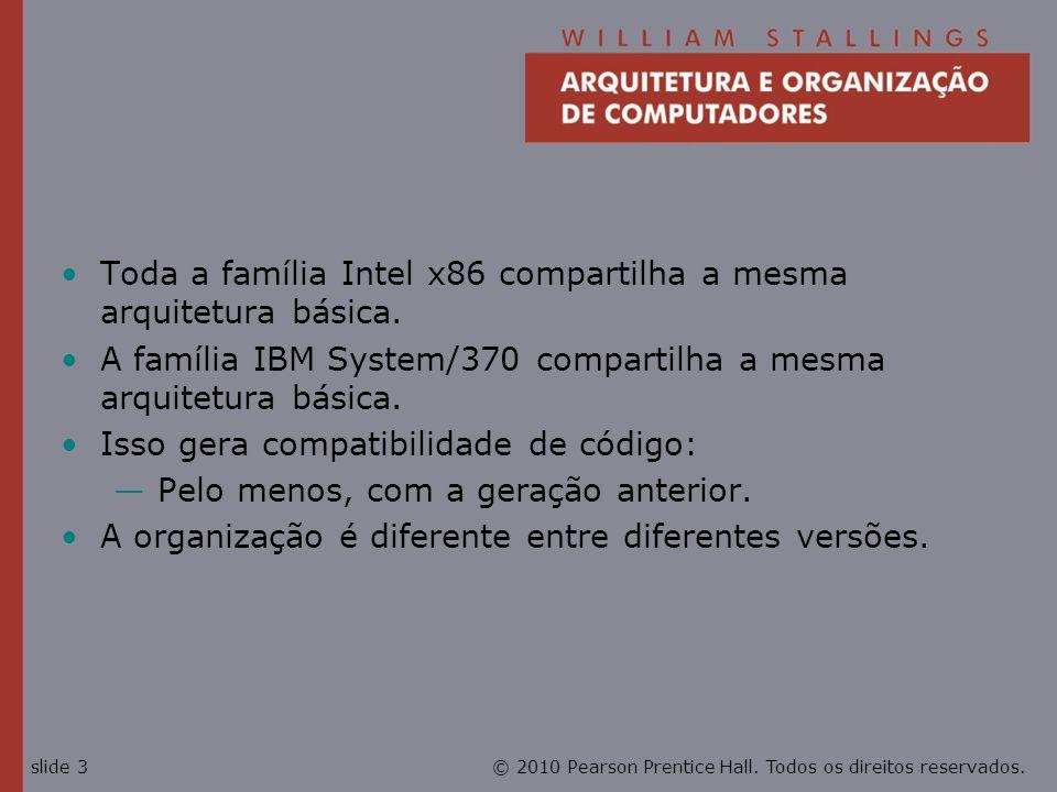 Toda a família Intel x86 compartilha a mesma arquitetura básica.