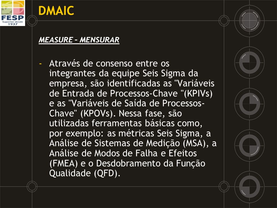 DMAICMEASURE – MENSURAR.