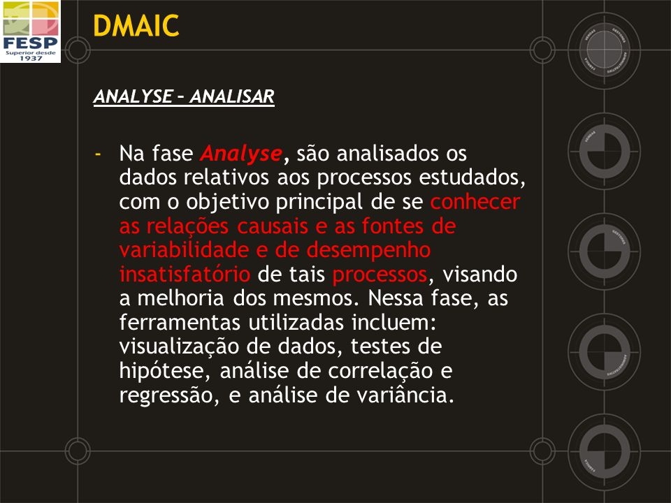 DMAICANALYSE – ANALISAR.
