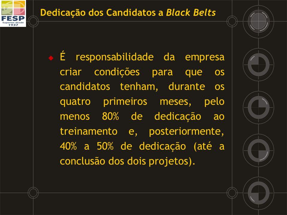 Dedicação dos Candidatos a Black Belts
