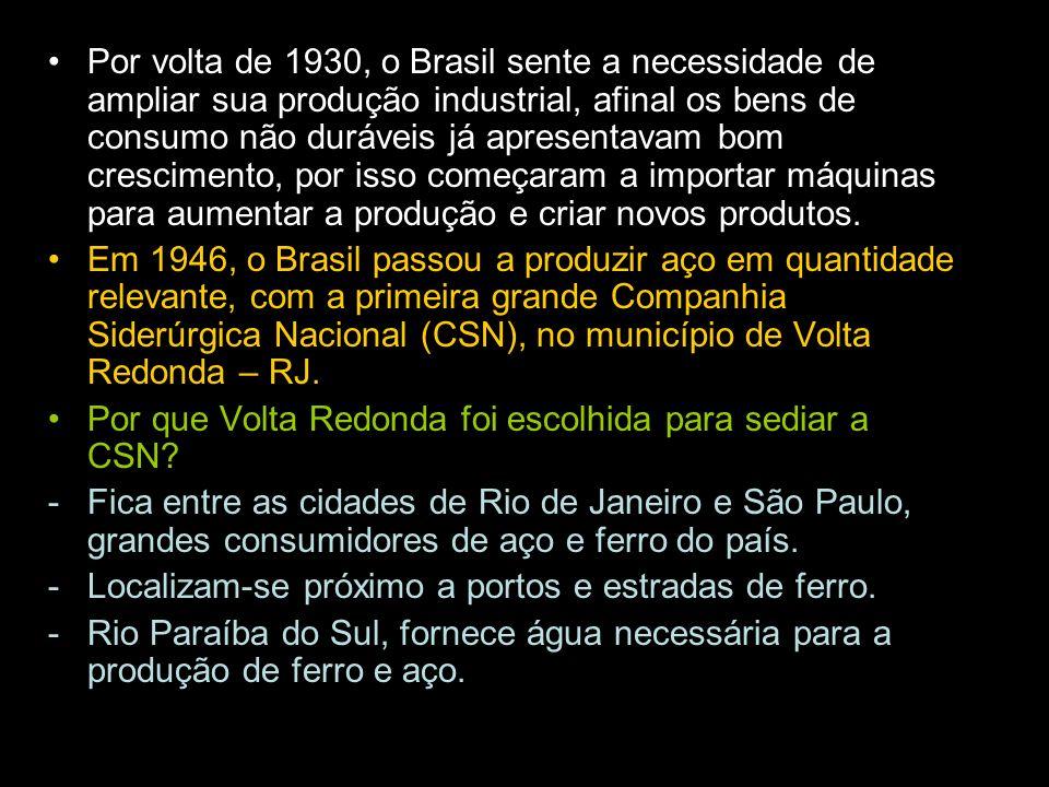 Por volta de 1930, o Brasil sente a necessidade de ampliar sua produção industrial, afinal os bens de consumo não duráveis já apresentavam bom crescimento, por isso começaram a importar máquinas para aumentar a produção e criar novos produtos.