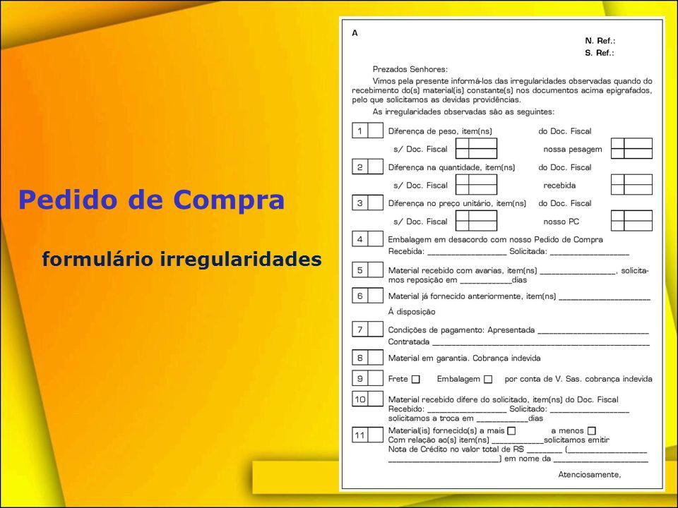 formulário irregularidades