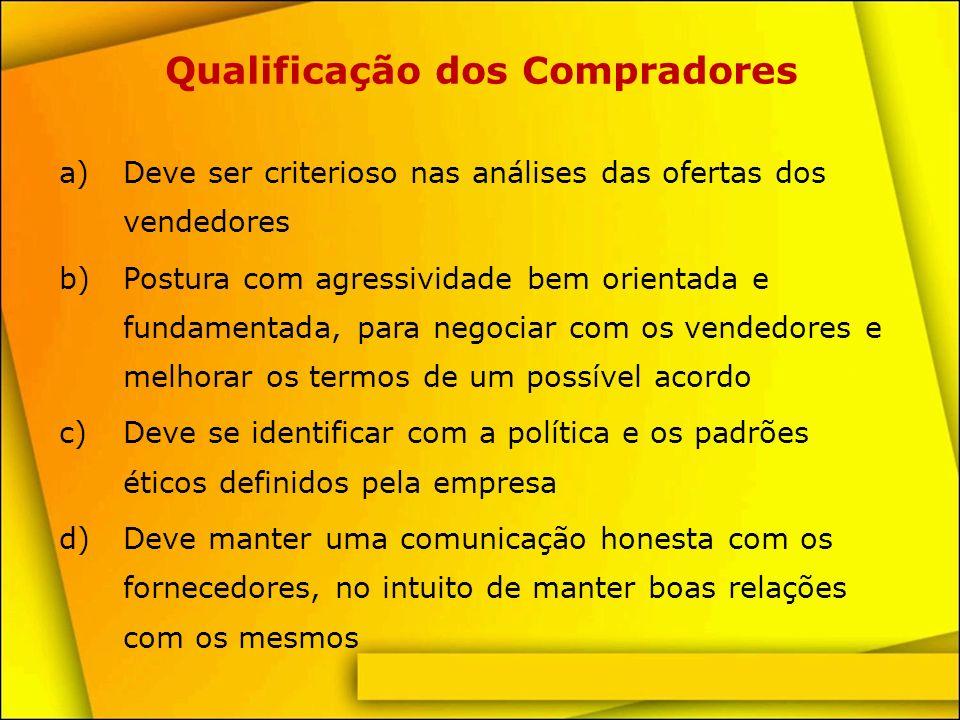 Qualificação dos Compradores