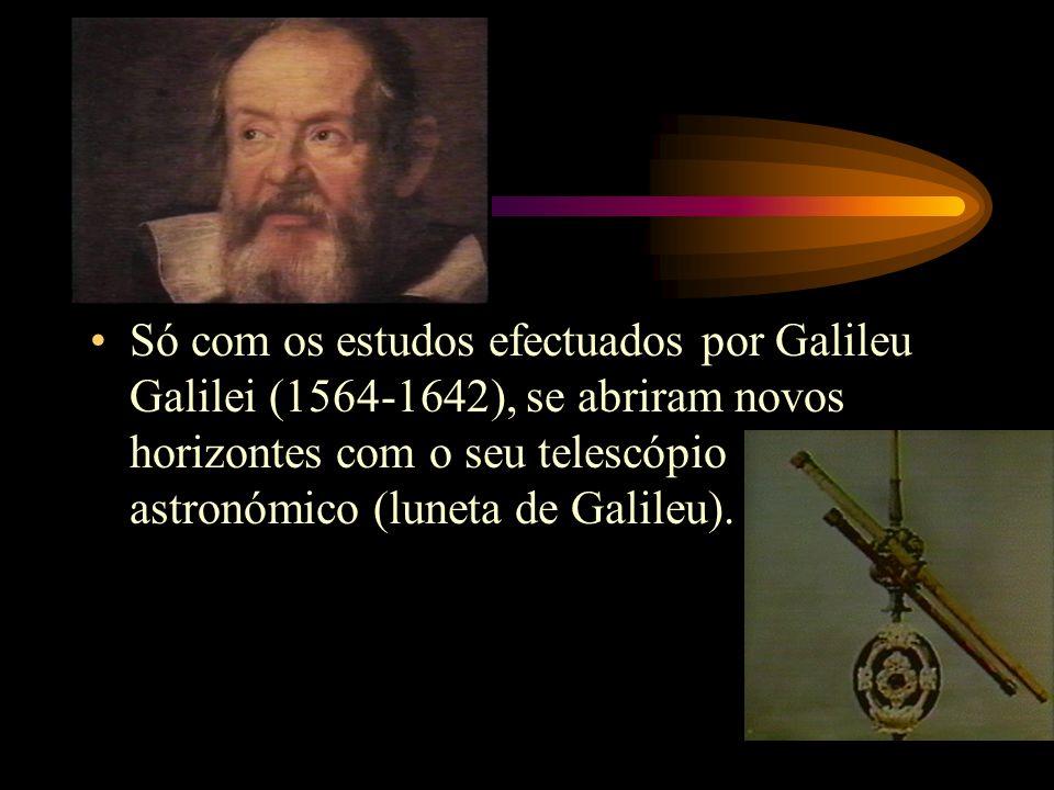 Só com os estudos efectuados por Galileu Galilei (1564-1642), se abriram novos horizontes com o seu telescópio astronómico (luneta de Galileu).